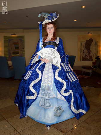 My Marie Antoinette costume from 2011. Original design.This is the 2014 TARDIS variation - new TARDIS underskirt and accessories.Kelldar.com | My Facebook Page | Tumblr | Instagram